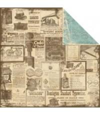 กระดาษ scrapbook PPC- Collectibles 12x12นิ้วdouble side 2ด้าน(ด้านละแบบ ให้เลือกใช้ค่ะ)