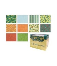Box Of Cards-Cafe Mediteranean ชุดเซ็ตการ์ดแฮนด์เมด 40ใบพร้อมซอง 10แบบ(แบบละ4ใบ)