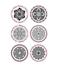 Kaleidoscope Rubber Stamp 12ชิ้น ถอดเปลี่ยนได้ (มีแท่นให้แยกซื้อหลายขนาดค่ะ)