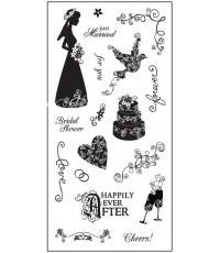Forever Clear stamp set ชุดแสตมป์ใสยืดหยุ่นเปลี่ยนและเล็งตำแหน่งที่จะปั๊มได้