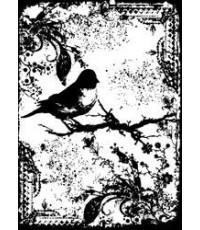 Tattered Sparrow Cling stamp - แสตมป์เนื้อRubberคุณภาพ แบบใช้เปลี่ยนและเล็งตำแหน่งที่จะปั๊มได้