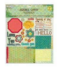 กระดาษscrapbook ชุดเซ็ต Jezebel Gypsy Card Making Kit ชุดเซ็ตการ์ด สำหรับสร้างการ์ด 8ชุด ไม่ซ้ำแบบ