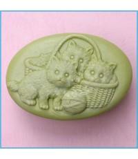 แม่พิมพ์ซิลิโคน รูปแมวตะกร้า