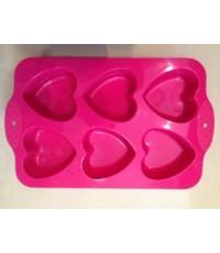 แม่พิมพ์ รูปหัวใจ 6 ช่อง