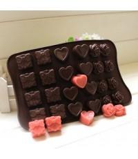 เเม่พิมพ์ช็อคโกเเลต รูปกล่องของขวัญ หัวใจ ดอกไม้
