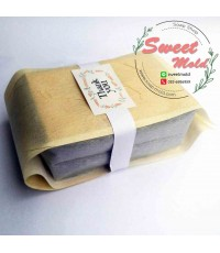 ถุงซองเยื่อกระดาษขยายข้างสีครีม 100 ชิ้น ขนาด 8x26+6 cm.
