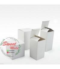 กล่องกระดาษปิดบนล่างสีขาว 100 ชิ้น ขนาด 8x8x14 cm.