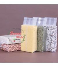 ถุงซองแวคคั่มขยายข้างเนื้อพลาสติก PE 100 ชิ้น ขนาด 11x30+5 cm.