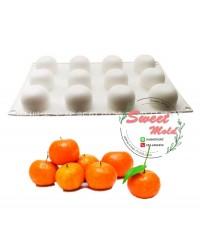 พิมพ์ซิลิโคนส้มเต็มลูก 12 ช่อง 50 กรัม