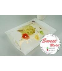 ถุงซองซิปล็อคสีขาว Enjoy life. 15*22+4 cm