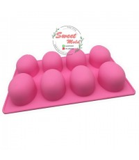 แม่พิมพ์วงรีไข่ 55กรัม 8ช่อง