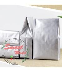ถุงซองฟอยล์สีบรอนซ์เงินขยายข้างตั้งได้ 100 ชิ้น ขนาด 11x30+6 cm.