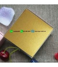 กล่องพับกระดาษสี่เหลี่ยมสีสันสดใส ขนาด 7.5x7.5x3cm แพ็คละ 50 ชิ้น สีบรอนทอง