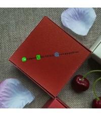 กล่องพับกระดาษสี่เหลี่ยมสีสันสดใส ขนาด 7.5x7.5x3cm แพ็คละ 50 ชิ้น สีแดง