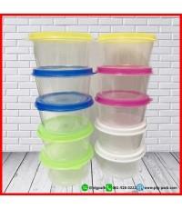 กล่องพลาสติก กระปุกพลาสติก คละสี แพ็ค10ชิ้น