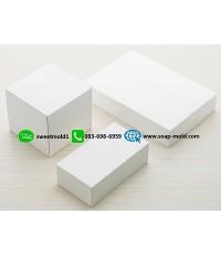กล่องกระดาษสีขาวเปิดบนล่าง ขนาด 12x17x5cm แพ็ค 100 ชิ้น