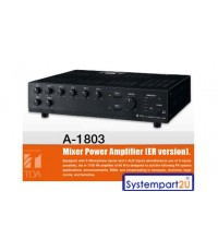A-1812 ER ยี่ห้อ TOA PA Amplifier120W Priority function, Chime function, and 2 Zone selector ราคาถูก