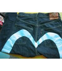 กางเกงยีนส์ EVISU รุ่นผลิตในญี่ปุ่น Made in JAPAN ค่ะ หายากแล้วค่ะ Big Mark สีฟ้า ไซส์ 32[clickดู]