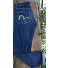 กางเกงยีนส์ EVISU รุ่นผลิตในญี่ปุ่น Made in JAPAN ค่ะ หายากแล้วค่ะ Mark สีเหลือง ไซส์ 30