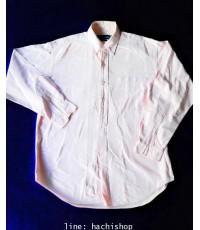 เสื้อเชิ้ต Polo Ralph Lauren สีชมพูอ่อน ไซส์ L สีสวย กระเป๋าหน้า สภาพดีค่ะ ใส่เที่ยว + ทำงาน + ลำลอง