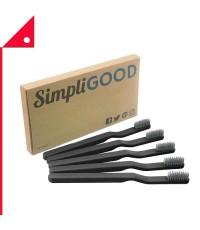 SimpliGOOD : SPG AMZ001* แปรงสีฟัน Toothbrushes Black, 5 Count