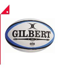 Gilbert : GIB41027005* ลูกรักบี้ Omega Match Rugby Ball, Black / Royal - Size 5