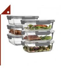 FineDine : FDEAMZ003* กล่องบรรจุอาหาร Superior Glass Meal Prep Containers 35 oz, 6-pk