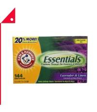 Arm & Hammer : ANHLVD-144* แผ่นอบผ้า Essentials Dryer Sheets Lavender & Linen, 144 Count