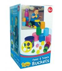 International Playthings : IPLG02082 ของเล่นเสริมพัฒนาการ Nest  Stack Buckets