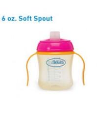 Dr. Brown\'s : DRB930 ถ้วยหัดดื่ม Training Cup, 6oz Soft Spout (Blue)