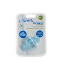 Dr.Brown\'s : DRBTE333 ยางกัด Transition Teether \quot;Orthees\quot; (Blue)