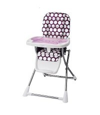EVF 29211415: Evenflo Compact Fold High Chair Polka Dottie Purple