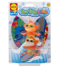 ALX 884S : ALEX Bathtime Fun, Surfing in the Tub Bath Time Kit with Squirter and Foam Surfboards