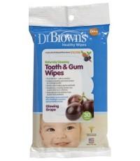 Dr.Brown\'s : DRBHG001 ผ้าเปียกเช็ดทำความสะอาดฟันและช่องปาก Tooth  Gum Wipes, 30 Pack