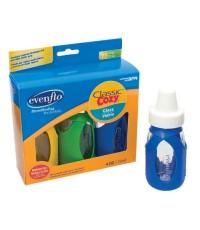 EVF 1181311* : Evenflo Cozy Glass w/Sleeve Bottle 4oz./3pack