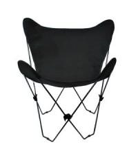 AGM 4053-57*:Algoma Butterfly Chair Black Frame, Ebony