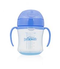 Dr.Brown\'s : DRBTC61001 ถ้วยหัดดื่ม 6 oz Soft-Spout Transition Cup - Assorted
