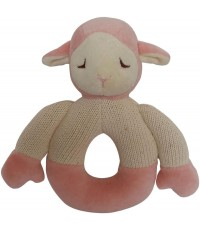Green Point : GRP46053 ยางกัดแบบผ้า Cotton Knit Natural Teether: Lamb