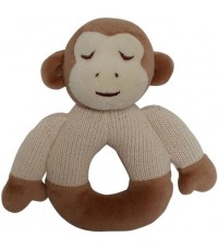 Green Point : GRP46054 ยางกัดแบบผ้า Cotton Knit Natural Teether: Monkey
