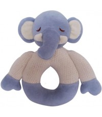 Green Point : GRP46055 ยางกัดแบบผ้า Cotton Knit Natural Teether: Elephant