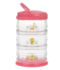 INO PS3-ZA313:Packin\' SMART 3 Tier Zoo Animal-Mango Sorbet (Pink)
