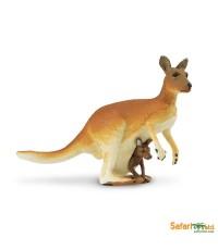 Safari Ltd. : SFR292029* โมเดลจิงโจ้ Kangaroo with Baby