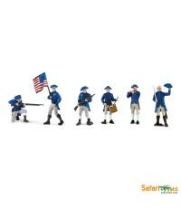 Safari Ltd. : SFR650204* โมเดลแบบแพ็คหลอด American Revolutionary War Continental Army