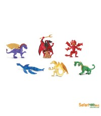Safari Ltd. : SFR685704* โมเดลมังกรแบบแพ็คหลอดชุด 2 Lair of the Dragons Collection 2