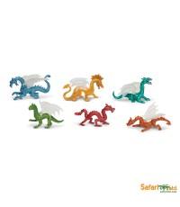 Safari Ltd. : SFR687604* โมเดลมังกรแบบแพ็คหลอด Dragons