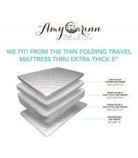 Amy Carinn Collection : ACC01* ผ้าคลุมเบาะเด็ก Pack N Play Crib Mattress Pad Cover