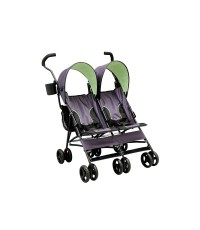 DLC 11701-013*: Delta Children LX Side by Side Tandem Umbrella Stroller, Lime Green