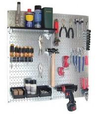 WCT 30-WGL-200GVB : Wall Control Galvanized Steel Pegboard Tool Organizer