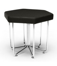 OFM : 66-MDN* โต๊ะ Hex Stool Midnight with Crome Frame