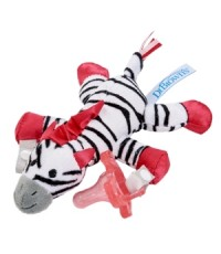 DRB AC048-P6 : Zebra Lovey with Pink One-Piece Pacifier